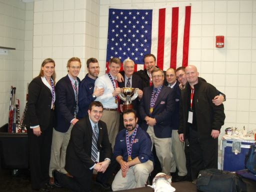 2009 World U18 Championship Staff. Coach Taylor in the middle.