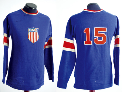 b7b8093fd These jerseys were eventually worn as throwbacks in the 2004 World Cup of  Hockey, with a slight alteration. Instead of the Olympic Rings topping the  shield, ...