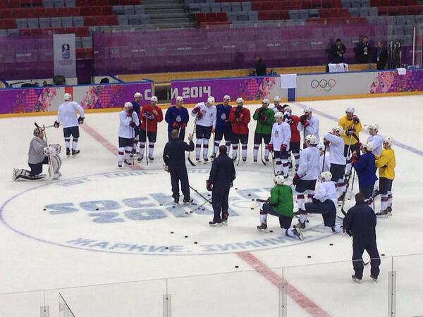 Sochi: Team USA Tries Out Forward Lines In First Practice